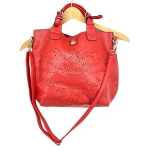 V Couture by Kooba Purse Red Satchel Crossbody Bag